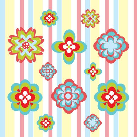 decorative flower pattern Stock Vector - 10851484