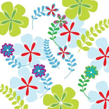 background modern flowers Stock Vector - 10851420