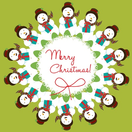 corona navidad: muñeco de nieve Mandala decoración