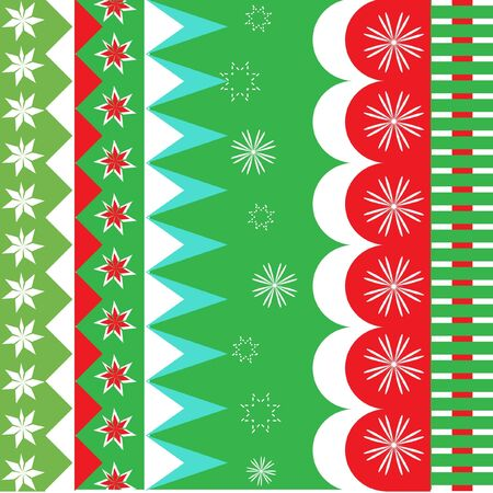 christmas wrapping pattern Vector