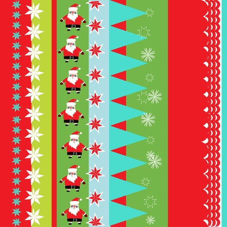 christmas wrapping paper pattern Vector