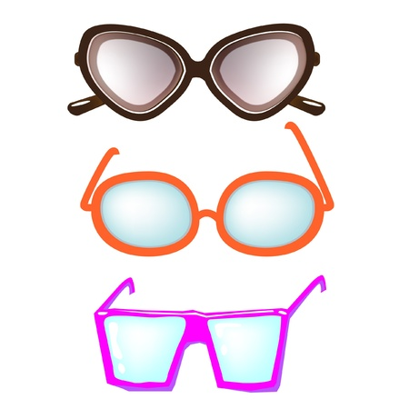 three types of glasses Stock Vector - 10852221