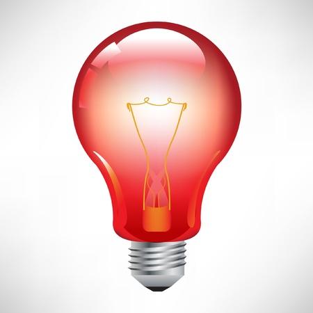 lamp power: red light bulb