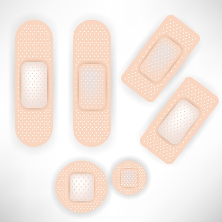 set of bandages Vector