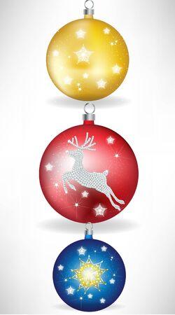 crystalline: set of three christmas globes