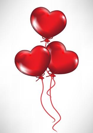 ribbon heart: heart shaped balloons