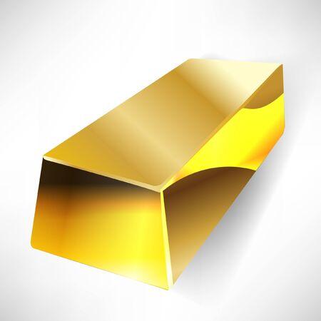 reserves: gold bar Illustration
