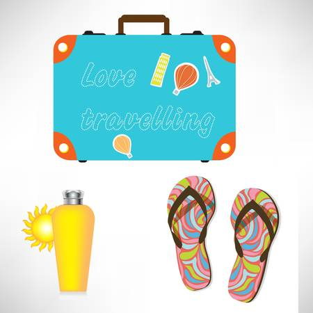 suit case: vacation items