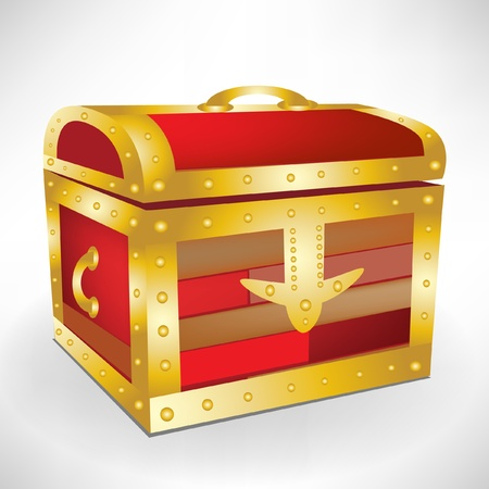 closed treasure chest Vector