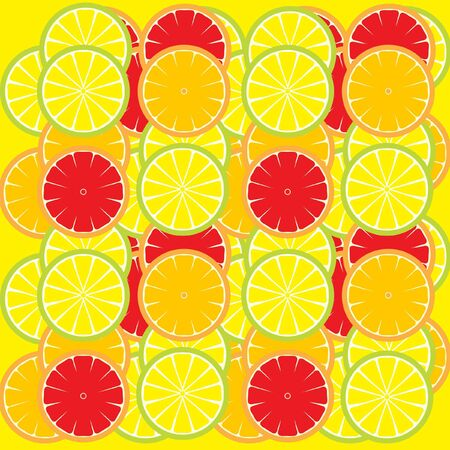 lemon slices background Vector