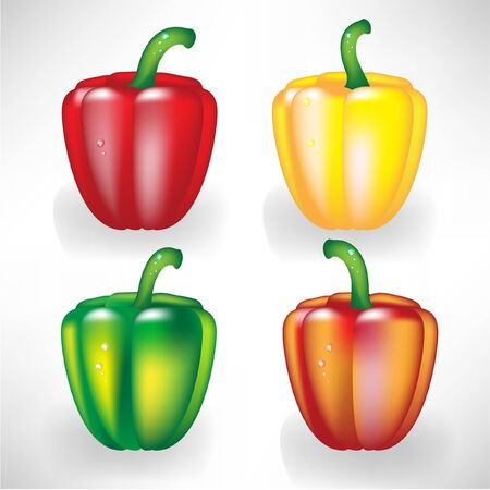 four peppers Stock Vector - 10852132