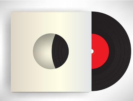 retro disc in sleeve Illustration