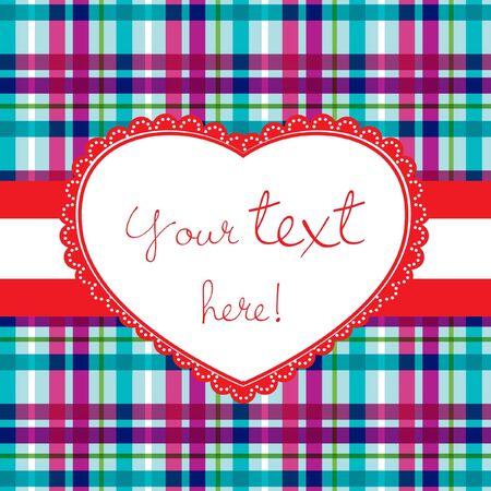 tweed: valentine card