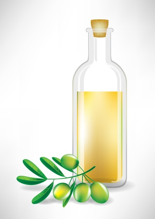 salatdressing: �lflasche und Olivenzweig