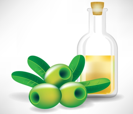 salatdressing: Oliven und Glas