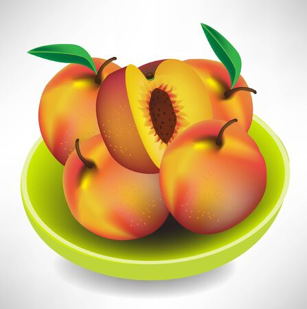agricultu: peaches in bowl