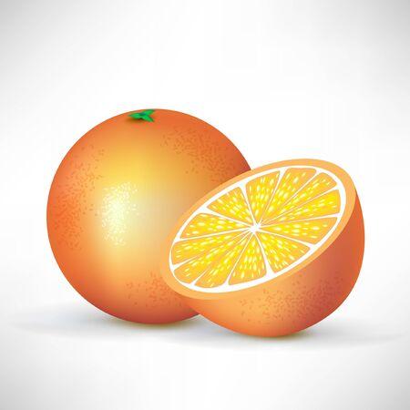 fruited: orange and half of orange