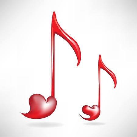 quarters: heart shaped music keys