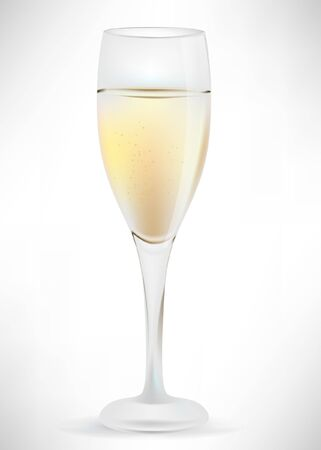 glass of champagne Stock Vector - 10851730