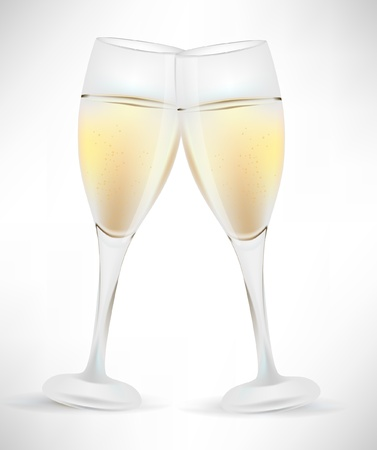 two glass of champagne Stock Vector - 10851897