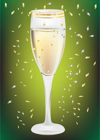 celebration champagne glass Stock Vector - 10851760