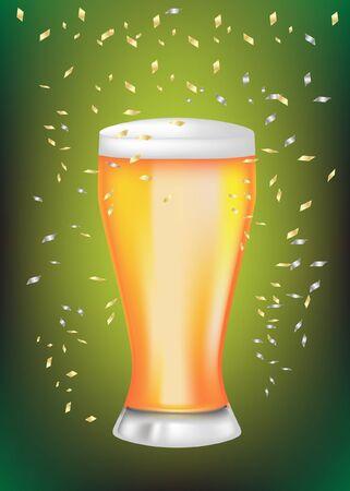 celebration beer glass Vector