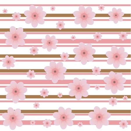 cherry buds decorative pattern Vector