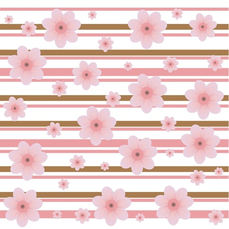 peach blossom: cherry buds decorative pattern Illustration