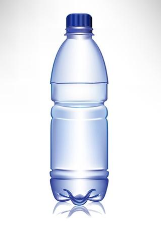 plastic: eenvoudige kleine plastic waterfles