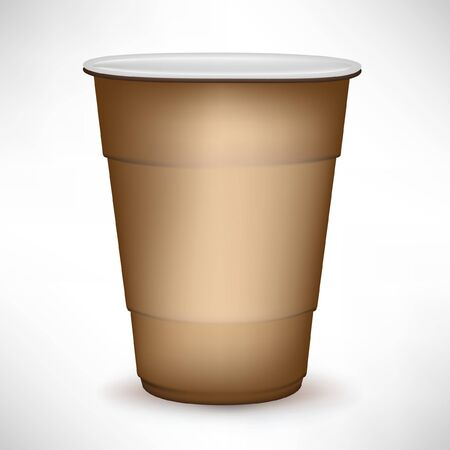 disposable: disposable simple coffee container Illustration
