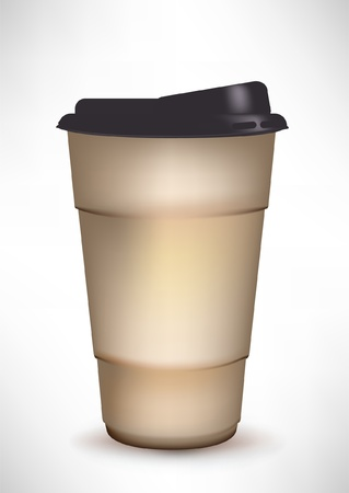 coffee container with plastic cap Vector