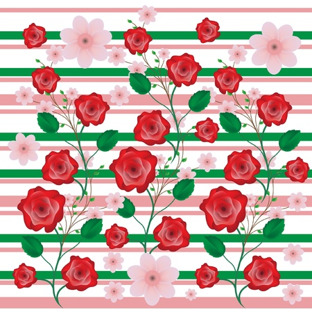 roses and apricot flowers background Vector
