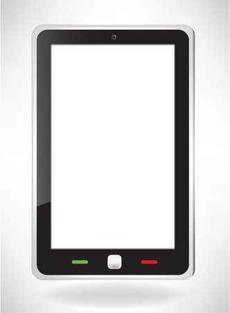 fictitious: fictitious modern touch screen phone Illustration