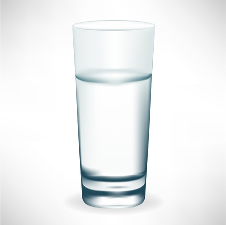 tall glass: simple tall glass of water isolated