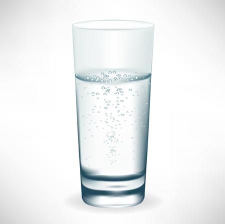WATER GLASS: semplice bicchiere di acqua minerale Vettoriali