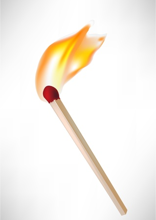 ljusare: red lighter with flame isolated