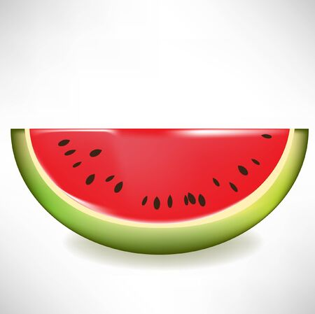 watermelon slice isolated Stock Vector - 10851716