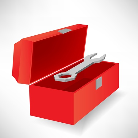 open tool box and screwdriver