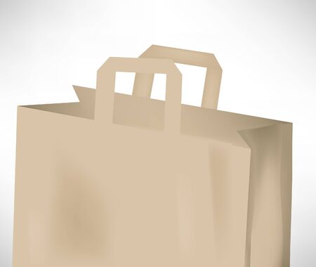 plain paper: simple paper grocery bag isolated on white