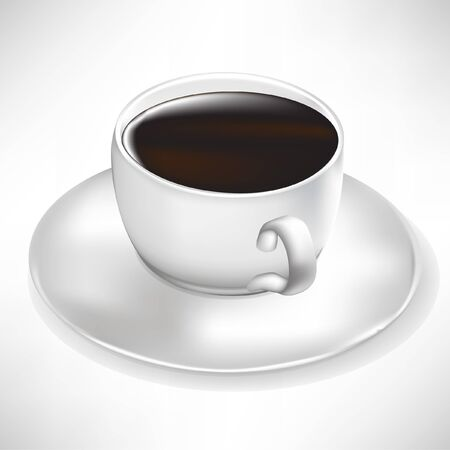 cup of black coffee isolated on white Stock Vector - 10886663