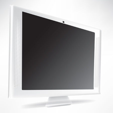 plasma monitor isolated on white background Stock Vector - 10884779