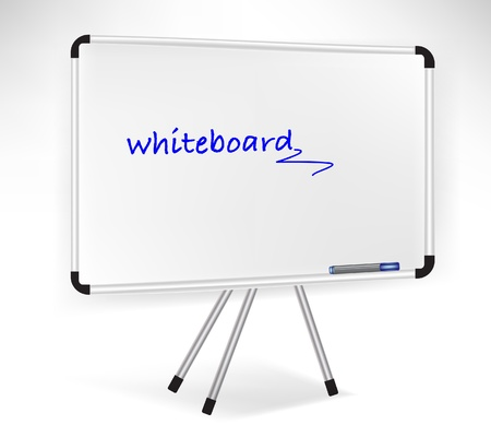 single presentation whiteboard isolated on white Vector