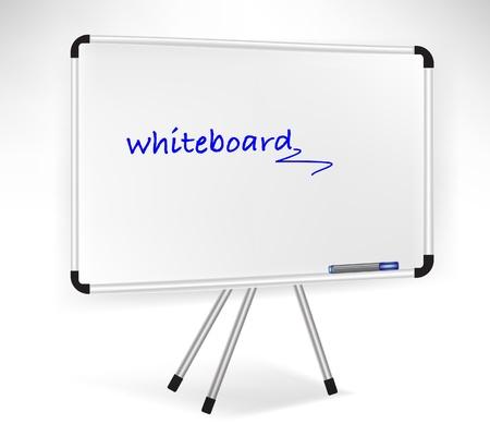 noticeboard: single presentation whiteboard isolated on white