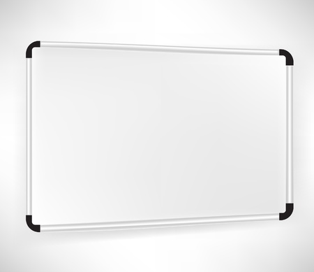 single simple whiteboard isolated on white Vector
