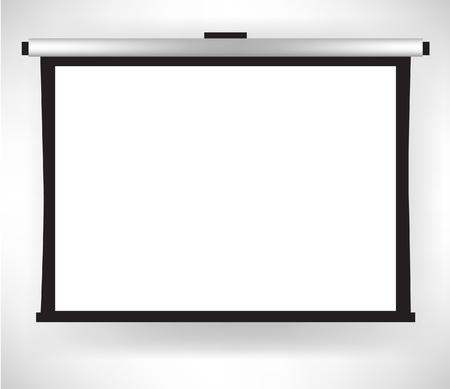 sola pantalla blanca vacía proyector aislados Ilustración de vector