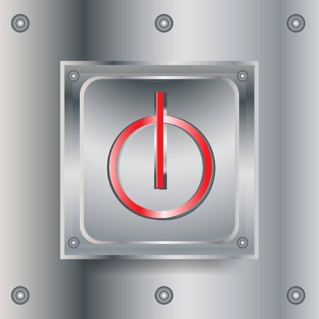 gatillo: cuadrados apagado metálico brillante botón