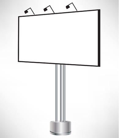 boarded: empty billboard in perspective isolated on white