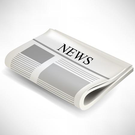 single newspaper illustration isolated on white background