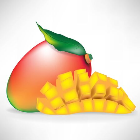 mango and sliced mango isolated on white background Stock Vector - 10888183