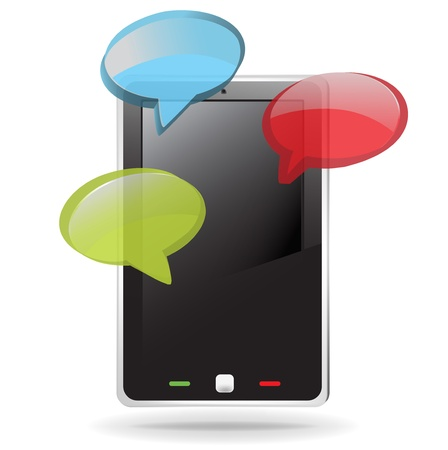 speakerphone: mobile smart phone with dialog text messages